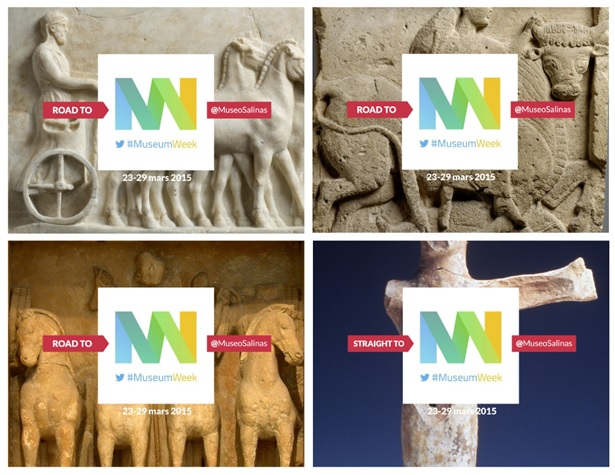 Fig.6: flier of the teaser campaign for #Museumweek2015 on Twitter