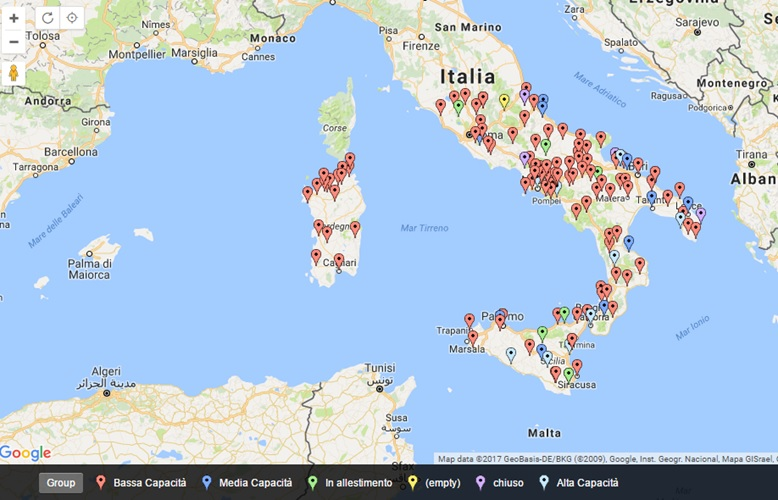 Figure 2: Ecclesiastical Museums in Middle and Southern Italy (Isles included)